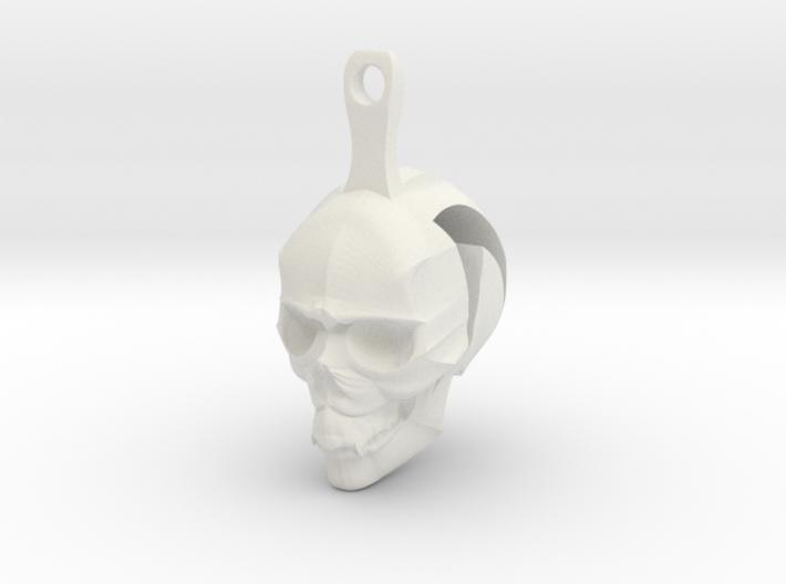 Skull Earrings Halloween 3d printed