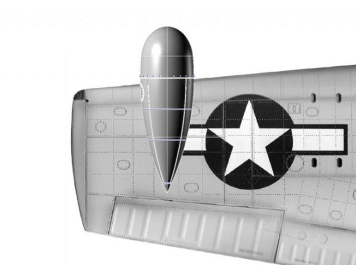 F6F-3N APS-6 Radar Pod (1:18) 3d printed placement