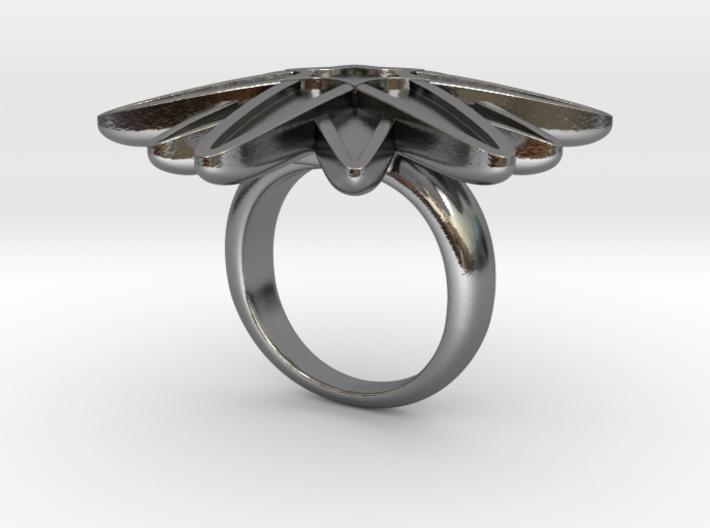 Starburst Statement Ring 3d printed