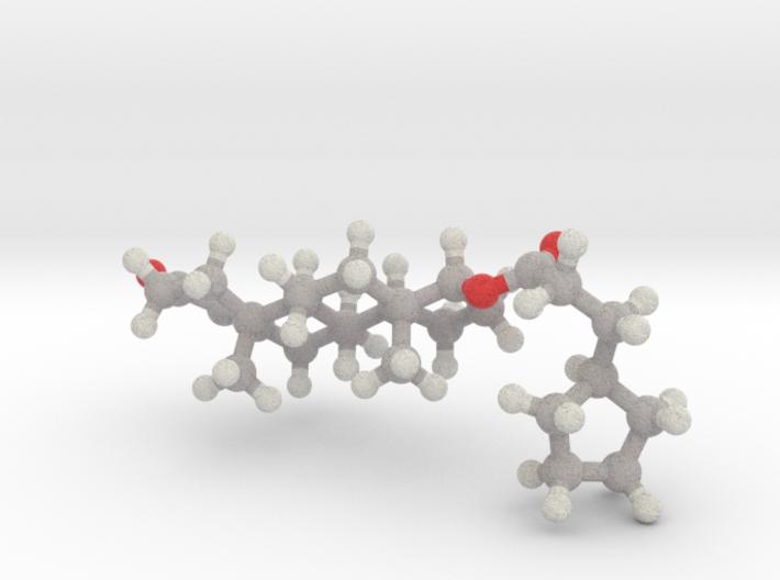 Testosterone Cypionate Molecule (FTM hrt) 3d printed