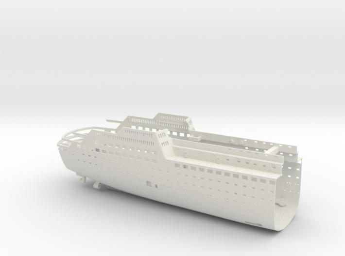 MS Arkona, Hull - Rear End (1:200, RC) 3d printed