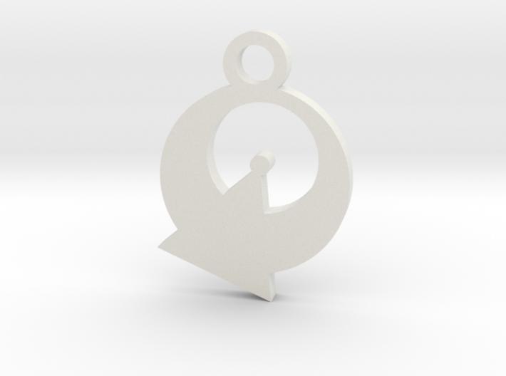 Vulcan Silhouette Charm 3d printed