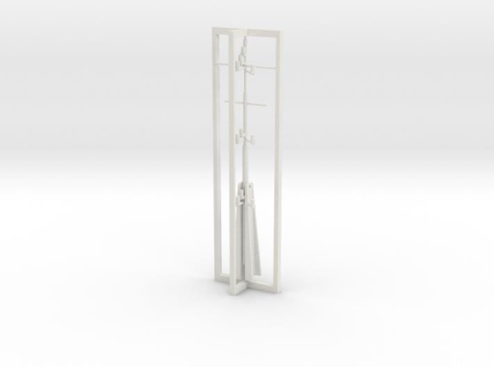 Mast, complete 1/75 fits Harbor Tug 3d printed