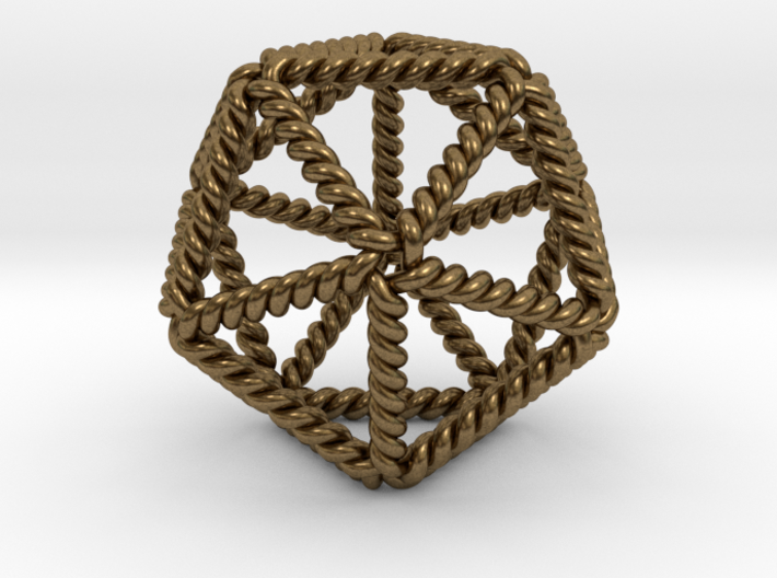 """Twisted Icosahedron LH 2"""" 3d printed"""