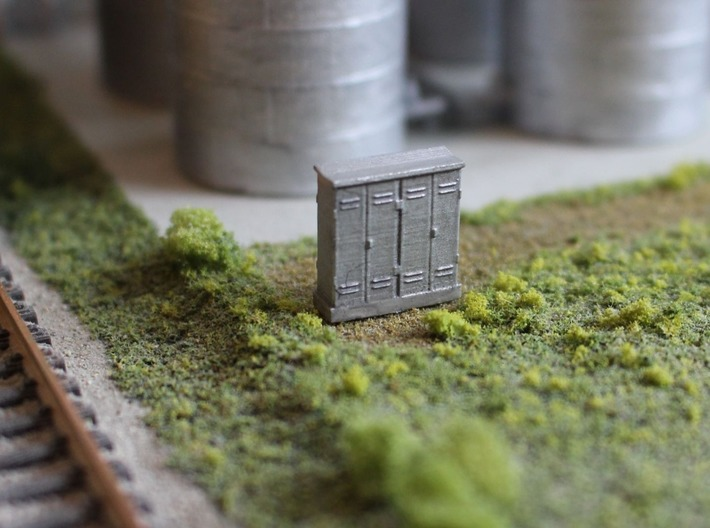 N Scale 4 Relay Cabinets 3d printed