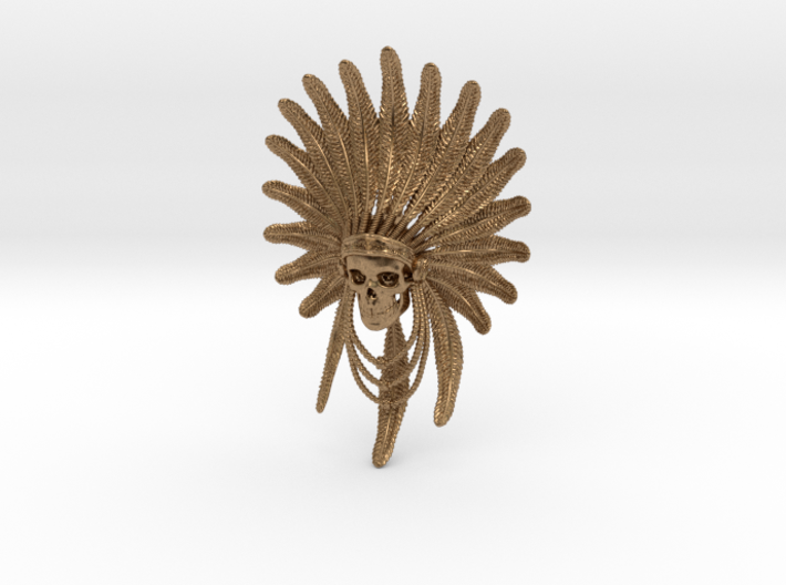 Indian Chief: Skull Pendant 3d printed