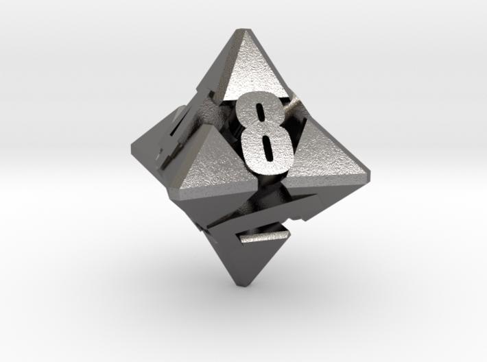 Hextrapyramidical d8 3d printed