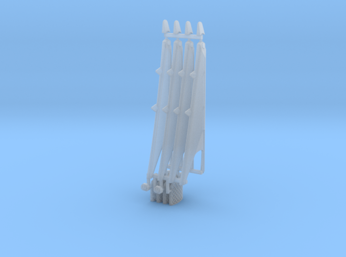 Grid Fins and landing legs Falcon 9 v1.2 Block 4 3d printed