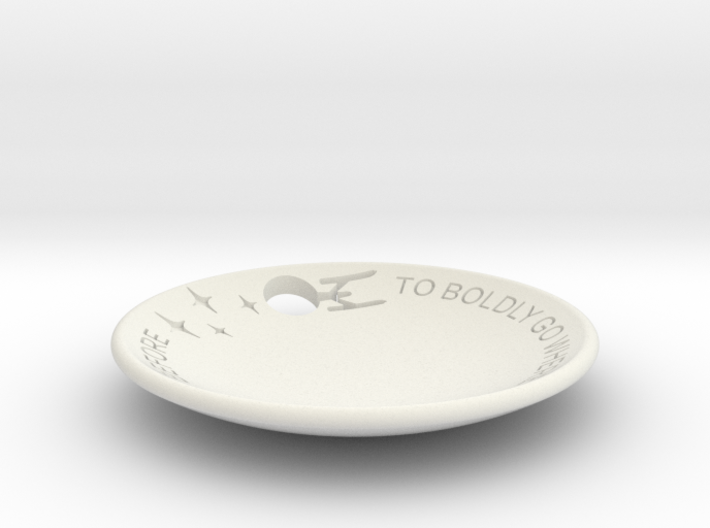 To Boldly Go... Dish Full Cut Out 3d printed