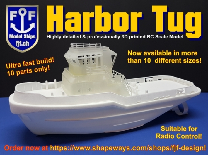 Harbor Tug Hull V40 1:87 3d printed SMIT JAPAN Harbor Tugboat 3D printed