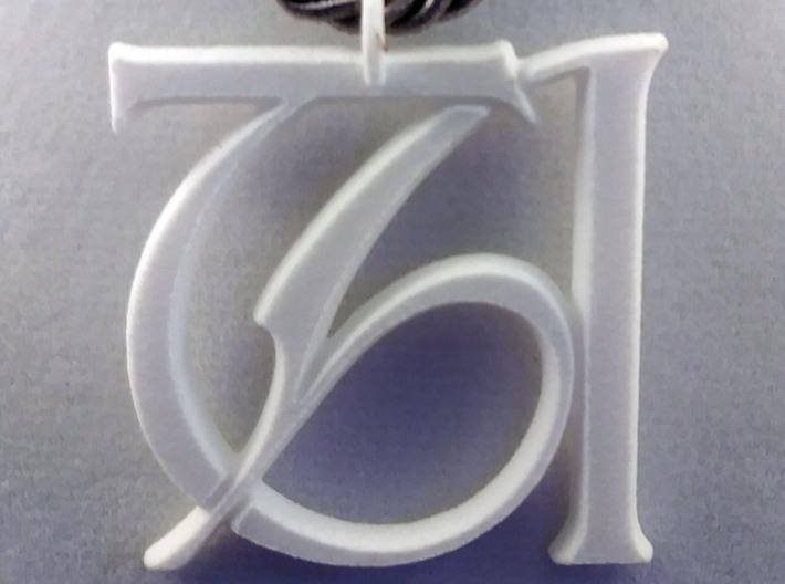 Monogram Initials TA Pendant 3d printed
