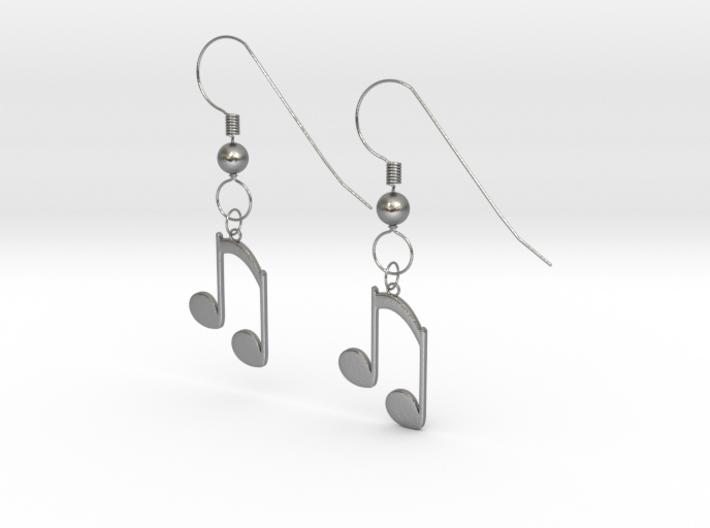 Music note earrings version 2 3d printed
