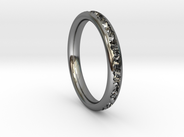 Destroyed ring - Size 9 3d printed