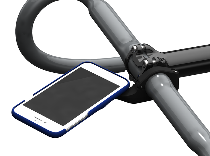 iPhone 6/6S Wahoo Mount Case - Hill Climb 3d printed Clearance for quarter-turn action.