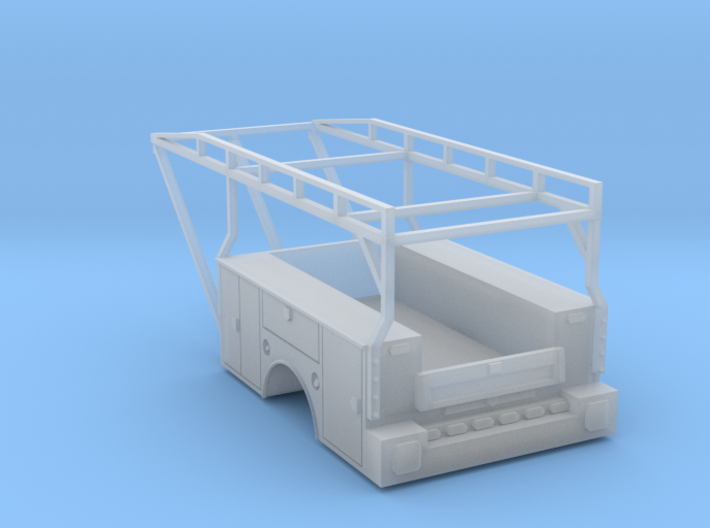 Standard Truck Bed With Ladder Rack 1-87 HO Scale 3d printed
