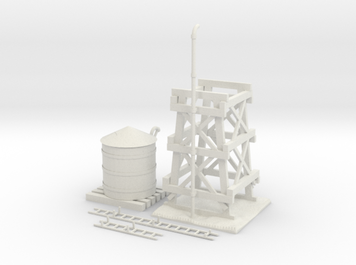 Water Tower Improved 3d printed