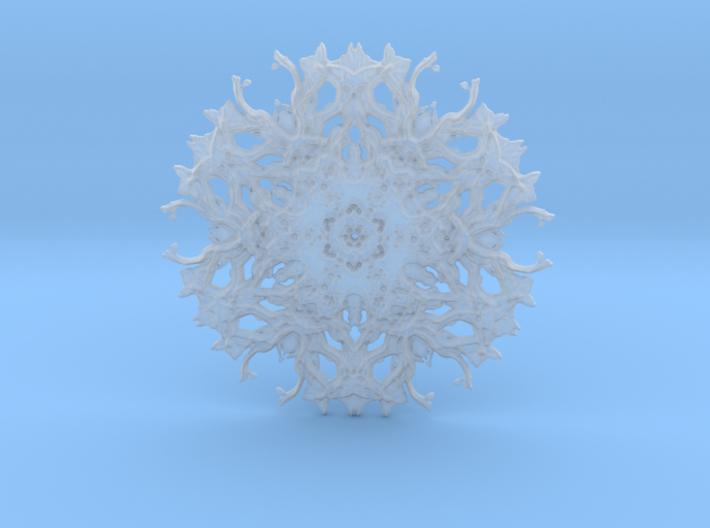 Rough transparent experimental shape for pendant o 3d printed