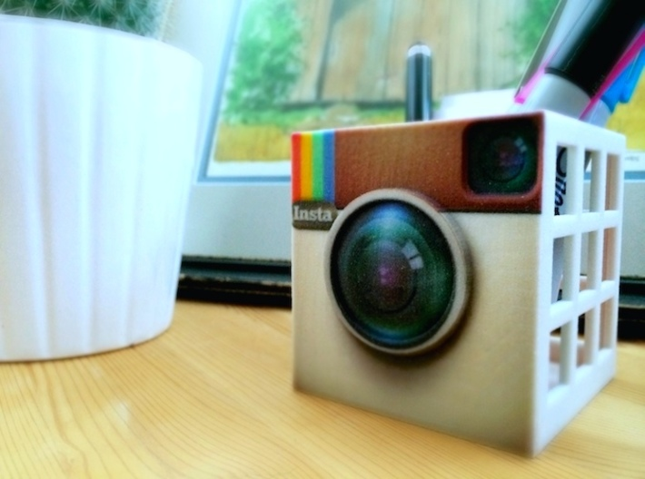 InstaBox: the Instagram Desk Container 3d printed Nothin' but #instalove
