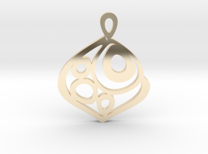 """One becomes three"" Pendant 3d printed"