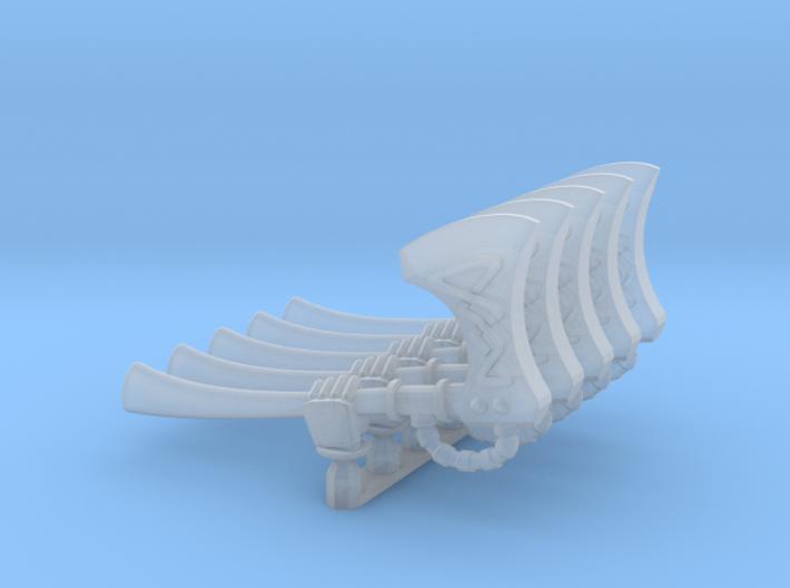Valkiria pattern Energy Axe (left hand) 3d printed