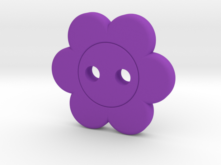 Flower Button 3d printed