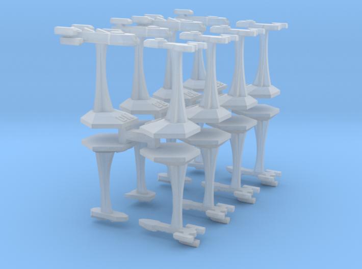 MicroFleet Tridran Heavy Battle Group (16pcs) 3d printed