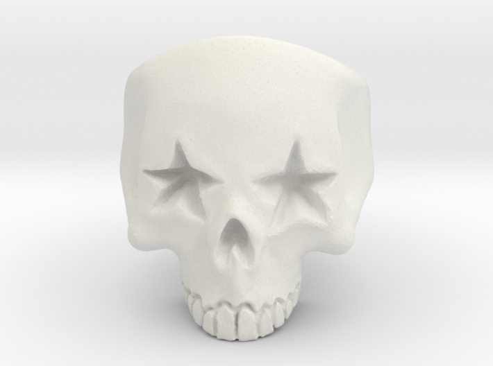 Joker's Star-Eyes Skull Ring - Plastics 3d printed