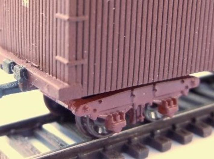 "T01b N Wood Beam Truck B&O 1850s 48"" wb for Bachma 3d printed"