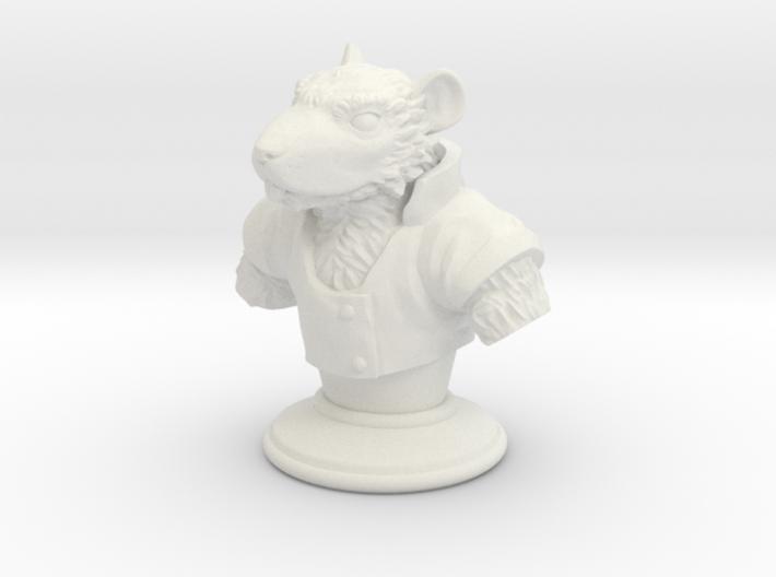 Ratfolk Bust 3d printed