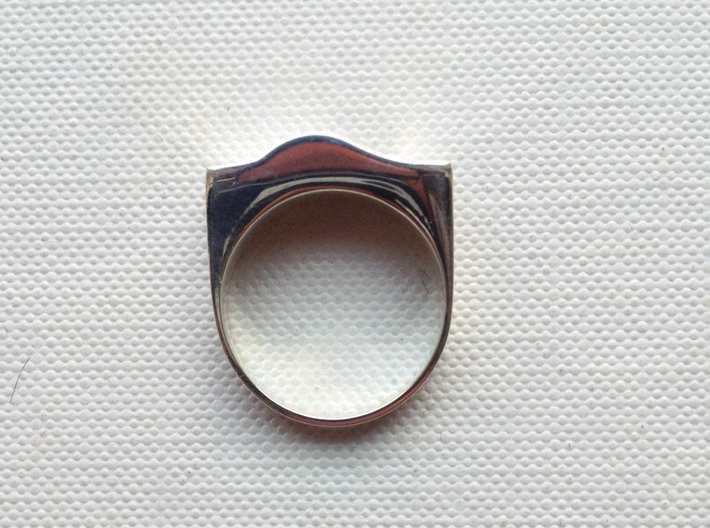 SandWave ring 3d printed Polished Silver