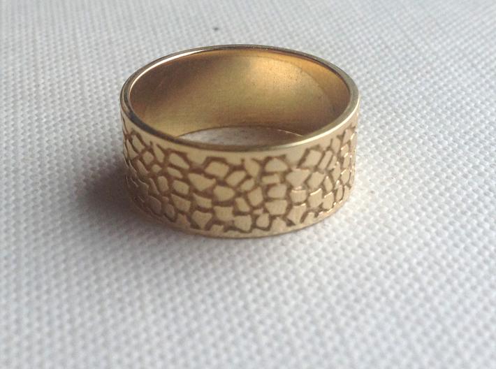 Elizabeth Ring 3d printed Polished Brass