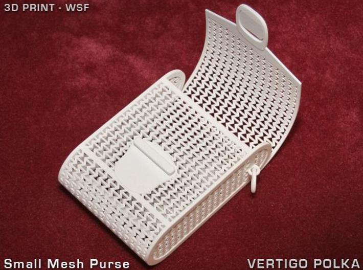 Small Mesh Purse 3d printed Small Mesh Purse - open