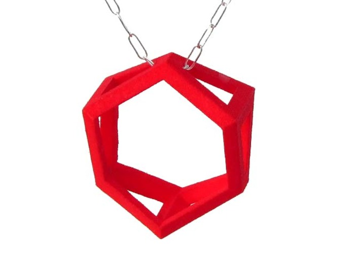 Trapezoid Ring Pendant 3d printed
