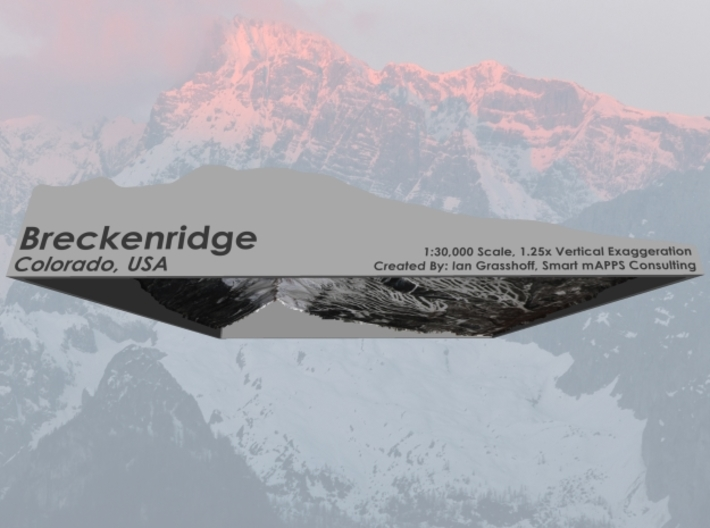 "Breckenridge, Colorado - Winter: 8""x10"" 3d printed"