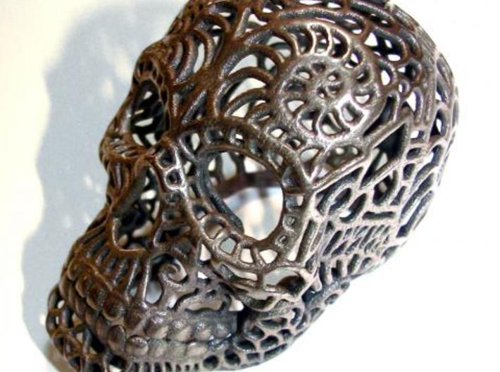 Nautilus Sugar Skull - MEDIUM 3d printed Antique Bronze