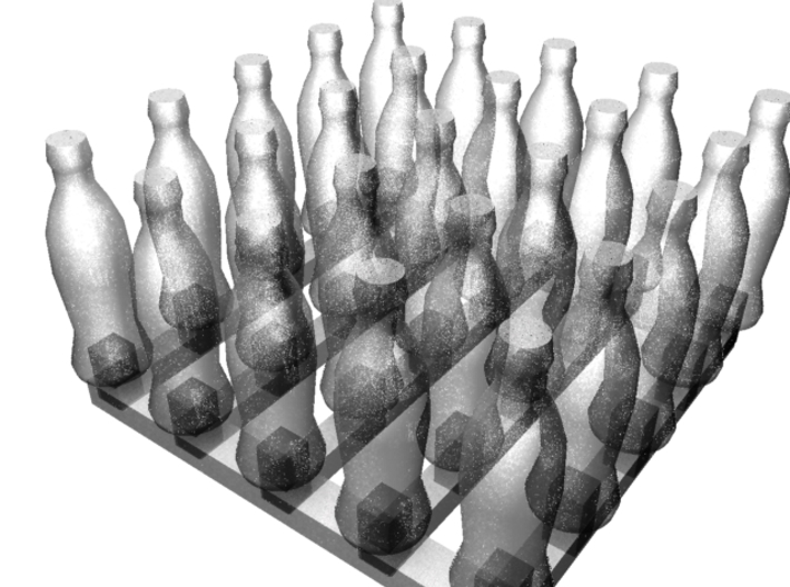 Bottles of Cola x25 3d printed 3d render