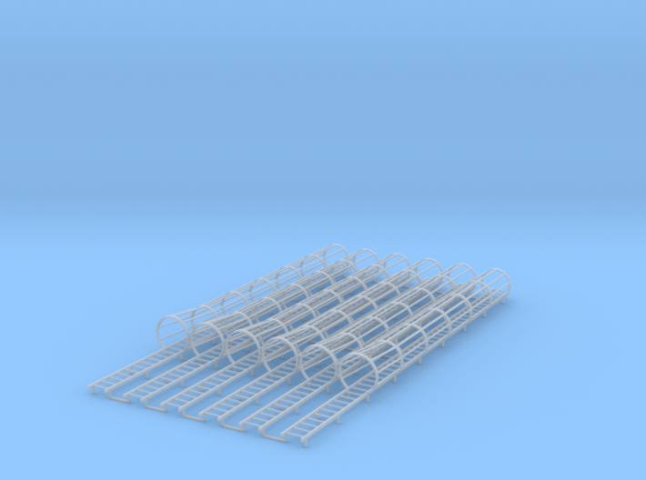 1/64 Ladder Cage Flair Bottom 6pc 3d printed