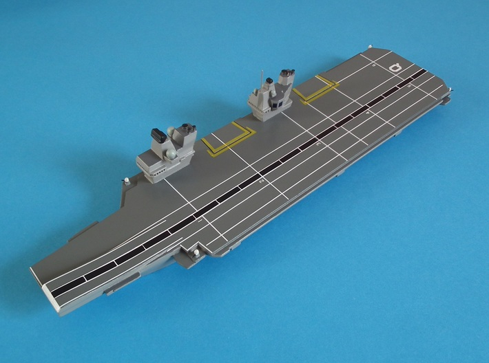 Queen Elizabeth-class aircraft carrier, 1/1200 3d printed Courtesy of Jeff (Twelvehundred)