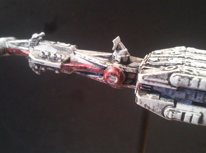 """Rebellious Spaceship, 1:2700 3d printed Painted by the late Robert """"Robiwon"""" Cass, used with permission"""