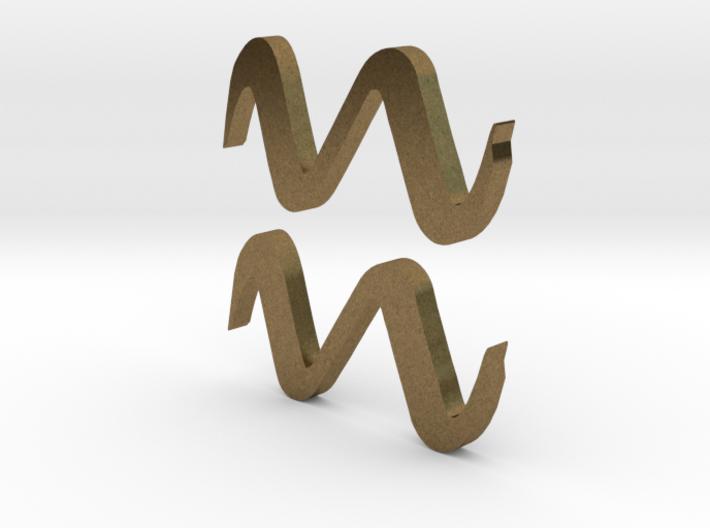 Aquarius (The Water-bearer) Symbol 3d printed