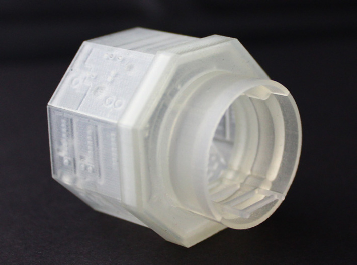 YT1300 TURRET WELL MPC 3d printed Millennium Falcon turret well, back side interior.