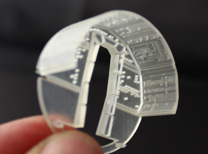 YT1300  MPC CABIN UPPER WALL 3d printed Millennium Falcon upper and back wall -sold separately-.