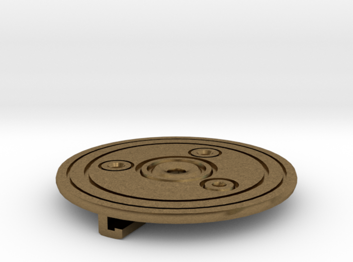 Simple Saxon Disk Brooch 3d printed