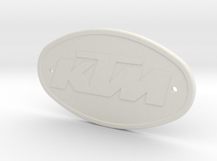KTM BADGE 3d printed