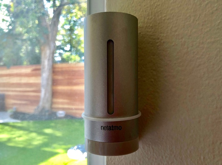 Netatmo wall mount holder 3d printed Wall mounted Netatmo. Self alignment feature at base make sure module is always vertical.