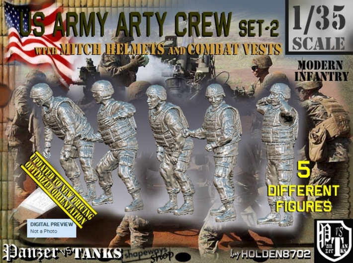 1/35 US Arty Crew Cold Weather Set2 3d printed