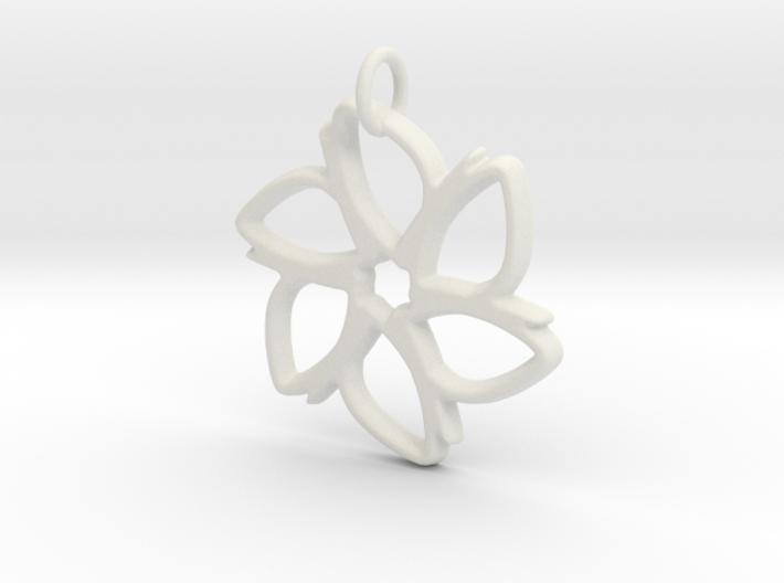 Six-Petaled Flower Pendant 3d printed