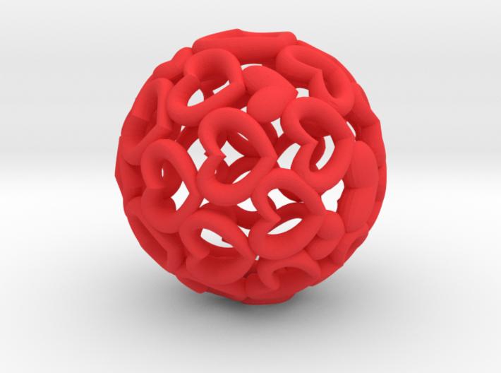 Heartball 20 mm 3d printed