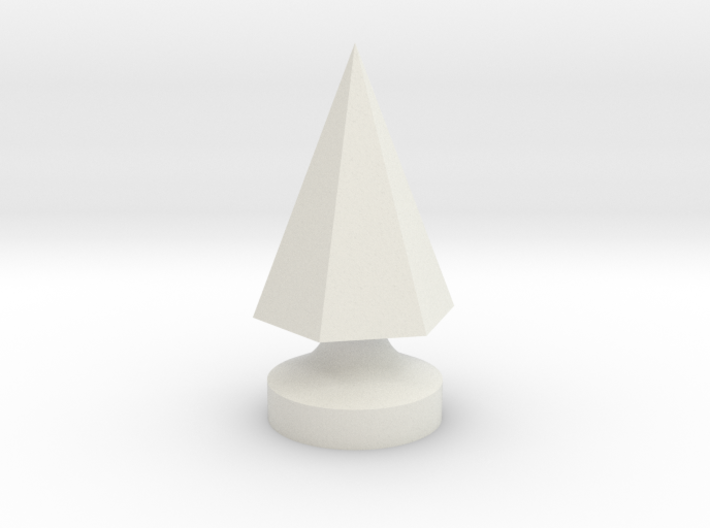 6-Side Pyramid Tree Spike 3d printed