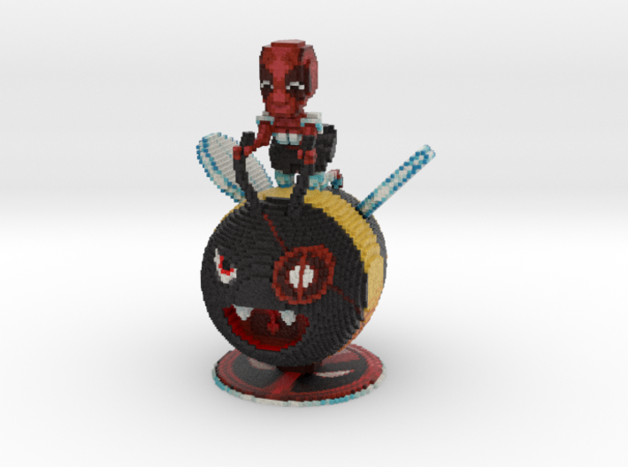 Maid Deadpool on a Bumblebee 3d printed
